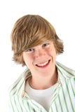 Menino adolescente de sorriso imagem de stock