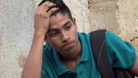 Menino adolescente forçado Fotografia de Stock Royalty Free
