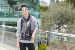 Menino adolescente na moda fora Imagem de Stock Royalty Free