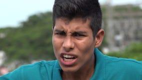 Menino adolescente ofendido ou irritado Imagens de Stock