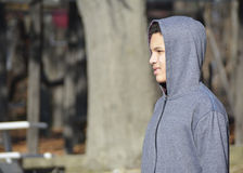 Menino adolescente preocupado Imagem de Stock