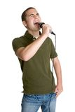 Menino adolescente que canta Imagem de Stock Royalty Free