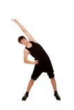 Menino adolescente que joga esportes, exercício da aptidão. imagens de stock royalty free