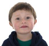 Menino adorável do americano da criança de 5 anos Fotografia de Stock