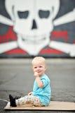 Menino adorável do bebê de um ano Foto de Stock