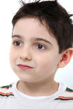 Menino adorável dos anos de idade seis Fotografia de Stock