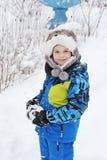 Menino 8 anos de idade no encabeçamento como um cão Foto de Stock