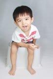 Menino asiático bonito Fotografia de Stock