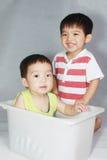 Menino asiático bonito Imagem de Stock Royalty Free