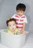 Menino asiático bonito Fotos de Stock
