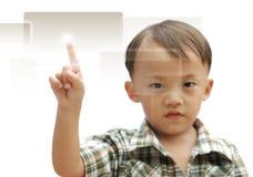 Menino asiático novo Fotografia de Stock Royalty Free