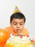 Menino asiático que comemora Imagem de Stock