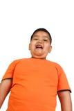 Menino asiático gordo Imagens de Stock Royalty Free