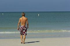 Menino atlético da praia Imagem de Stock Royalty Free