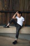 Menino bonito asiático imagens de stock royalty free