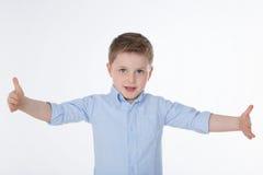 Menino bonito com camisa Fotos de Stock Royalty Free