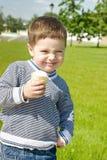 Menino bonito com gelado Imagens de Stock Royalty Free
