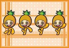 Menino bonito do abacaxi Imagens de Stock Royalty Free