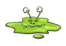 Menino bonito do monstro do limo dos desenhos animados isolado no fundo branco Foto de Stock Royalty Free