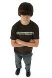 Menino bonito dos anos de idade treze Imagem de Stock