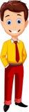 Menino bonito dos desenhos animados Fotografia de Stock