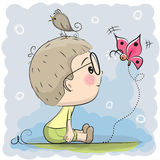 Menino bonito dos desenhos animados Fotografia de Stock Royalty Free