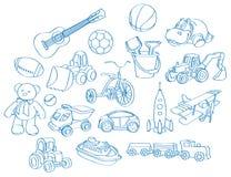 Menino-brinquedos ilustração stock