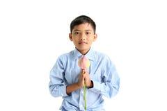 Menino budista pequeno Imagem de Stock Royalty Free