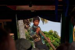 Menino cambojano Imagens de Stock