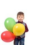 Menino com balões Imagem de Stock Royalty Free