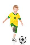 Menino com bola de futebol Foto de Stock Royalty Free