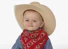Menino com chapéu de cowboy Imagens de Stock