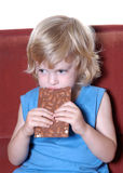 Menino com chocolate II Imagens de Stock Royalty Free
