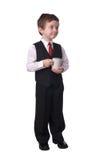 Menino com copo de café Fotografia de Stock Royalty Free
