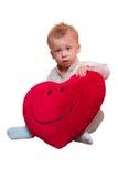 Menino com coração grande Imagem de Stock