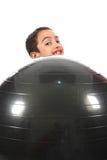 Menino com esfera Fotos de Stock