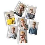 Menino com expressões múltiplas foto de stock royalty free