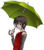 Menino com guarda-chuva Imagem de Stock