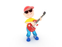 Menino com guitarra Fotos de Stock Royalty Free