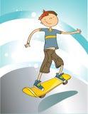 Menino com skate Imagens de Stock Royalty Free