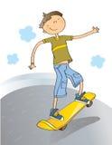 Menino com skate Imagens de Stock