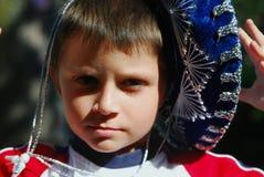 Menino com Sombrero Fotos de Stock Royalty Free
