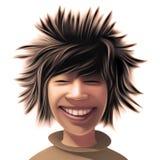 Menino com um estilo de cabelo selvagem foto de stock royalty free