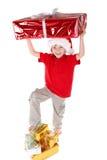 Menino como Papai Noel imagem de stock