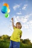 Menino da beleza com balão fotografia de stock royalty free
