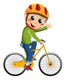 Menino da bicicleta ilustração do vetor