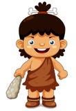 Menino da caverna dos desenhos animados Imagem de Stock
