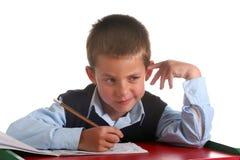 Menino da escola primária Imagens de Stock