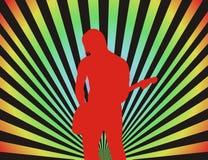 Menino da guitarra ilustração stock