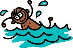 Menino da natação ilustração do vetor